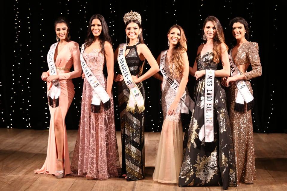 O belo e competitivo Top 6 do Miss Brasília CNB 2019.