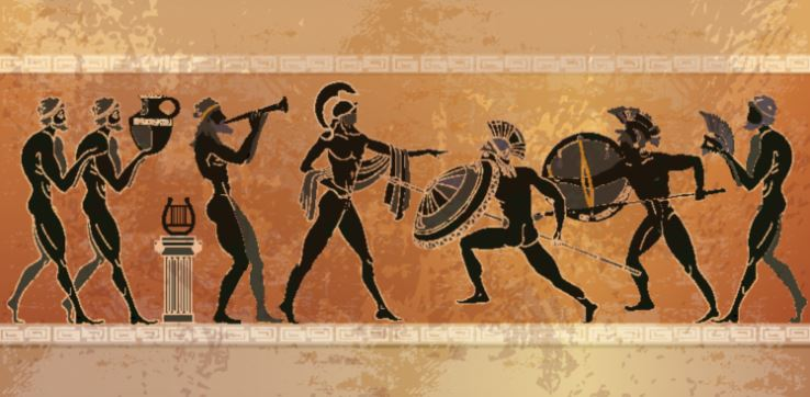 The ancient art of Greek people.