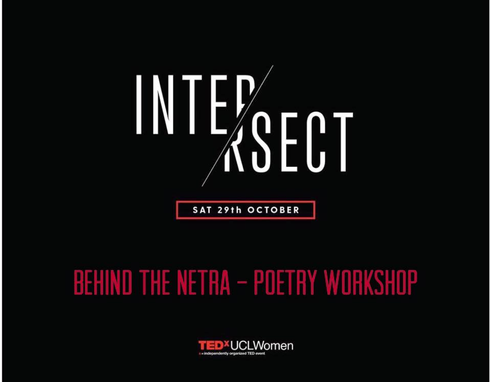 It was an incredible experience to provide a poetry workshop and talk at this years TEDxUCLWomen event on the theme of intersect and identity.