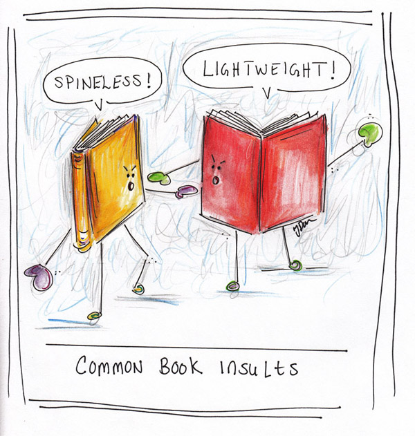 Common Book Insults: for T-shirt, ink and watercolor. 2006.