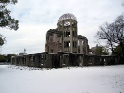 Snow covered A-bomb Dome