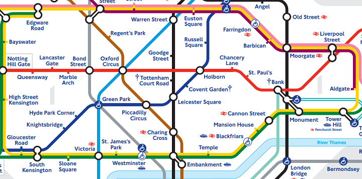 How do I go from Notting Hill to Hyde Park Corner (Buckingham Palace)?