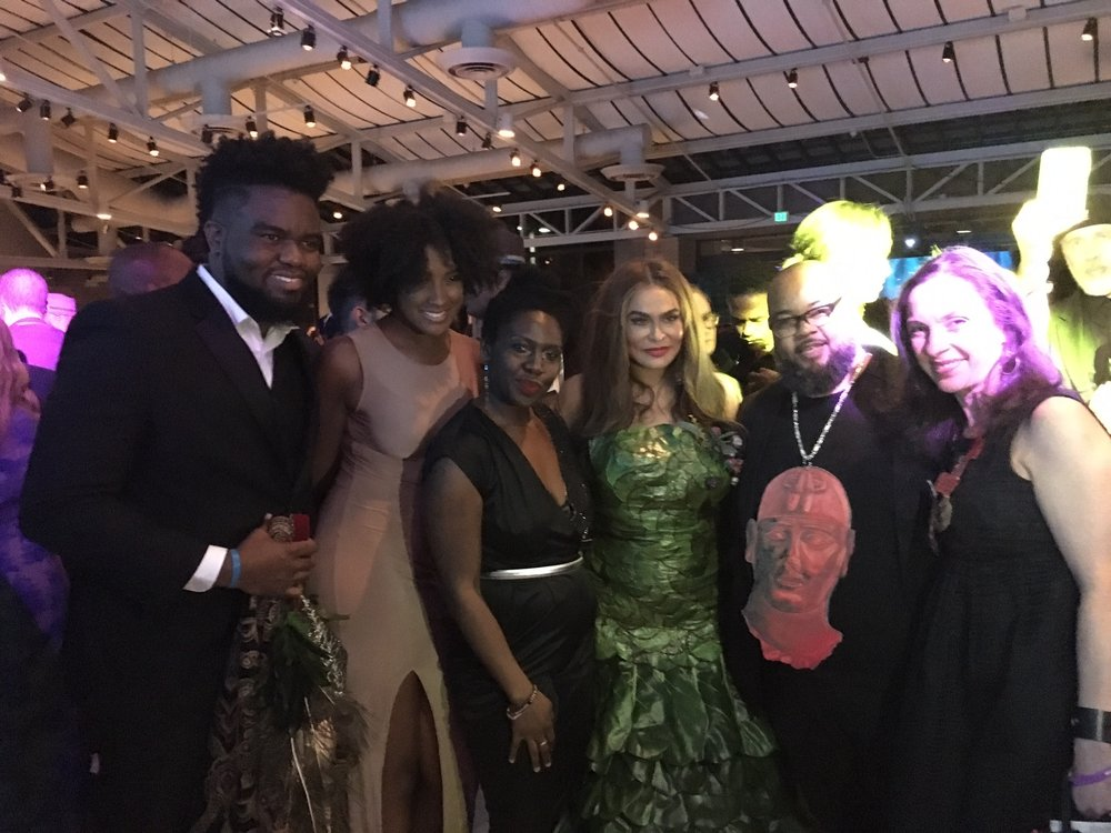 Tina [Knowles] Lawson's Inaugural Wearable Art Gala at the California African American Museum in Los Angeles, April 29th, 2017. -