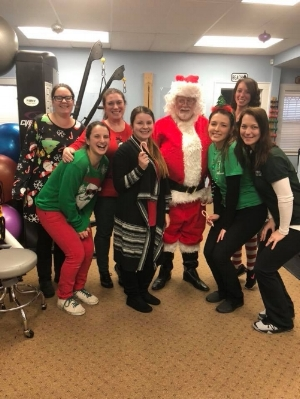 For Christmas, Santa came by our office to visit the staff and the patients.