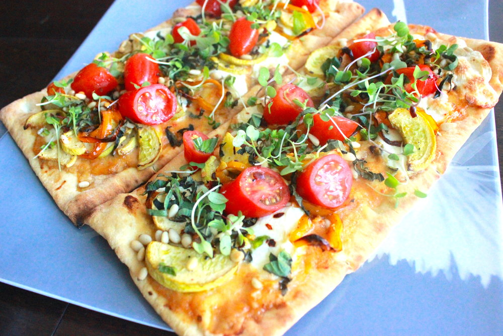 Yellow Squash Flatbread by CharlesChen.tv