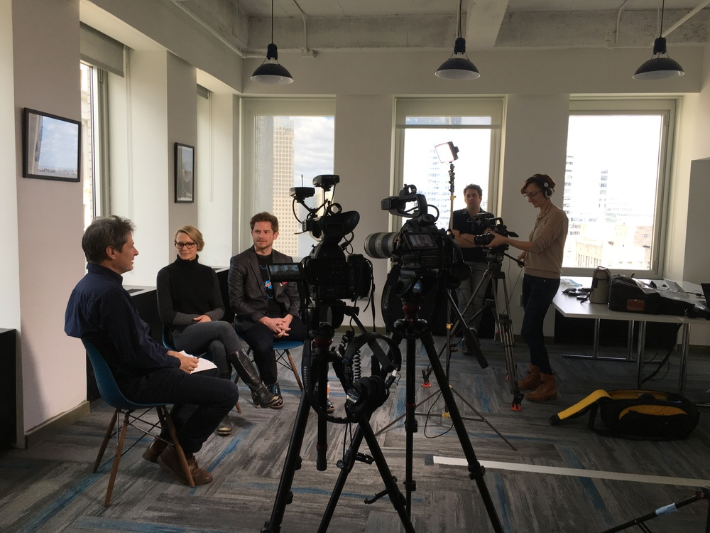 Video shoot with Guardian editor Ed Pilkington