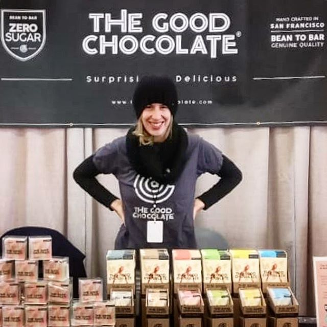 Our one and only @noalevylive greeting a hungry crowd of chocolate enthusiasts this weekend at @nwchocolate  It was a pleasure meeting so many good people and presenting among such inspiring and delicious brands!