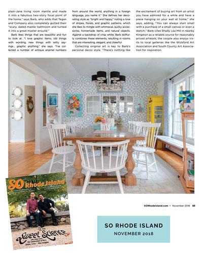 SO Rhode Island magazine  November 2018
