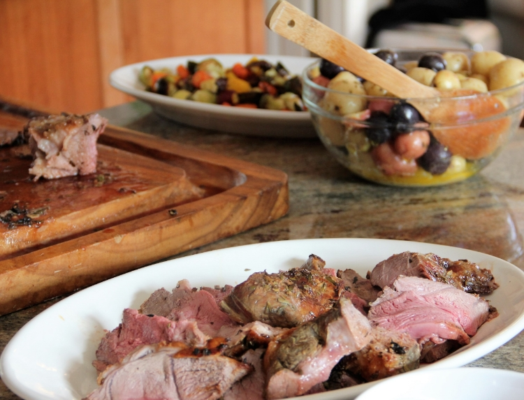 You can almost smell the deliciousness... Lamb, potatoes, veg... classic Irish-American Easter