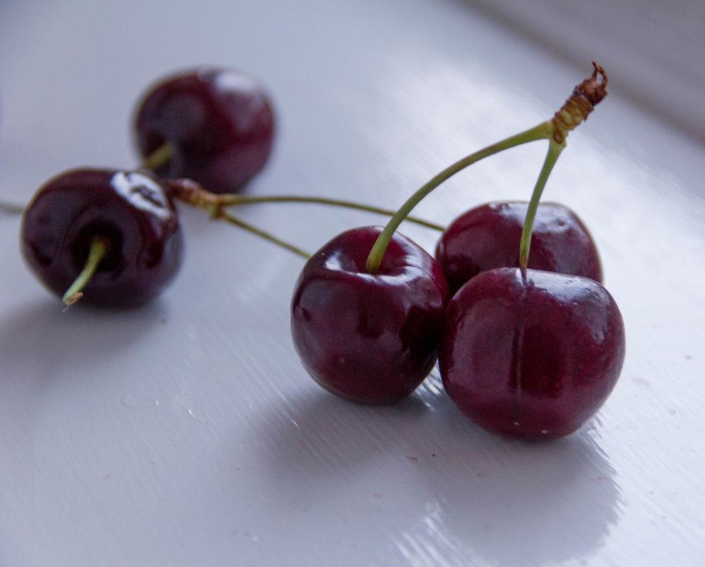 Loads of fresh cherries in this recipe!!