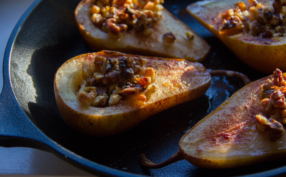 Roasted Pears with Walnuts Recipe