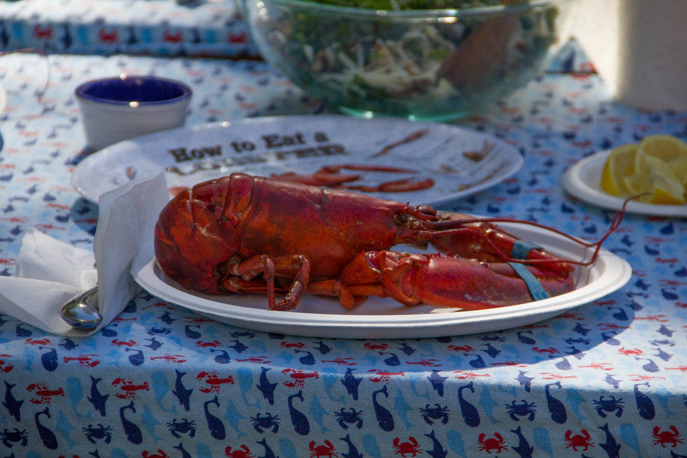 My first New England Lobster Bake in Maine!