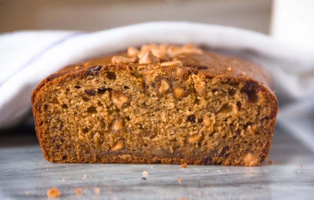 Those peanut butter chips though.... peanut butter banana bread recipe