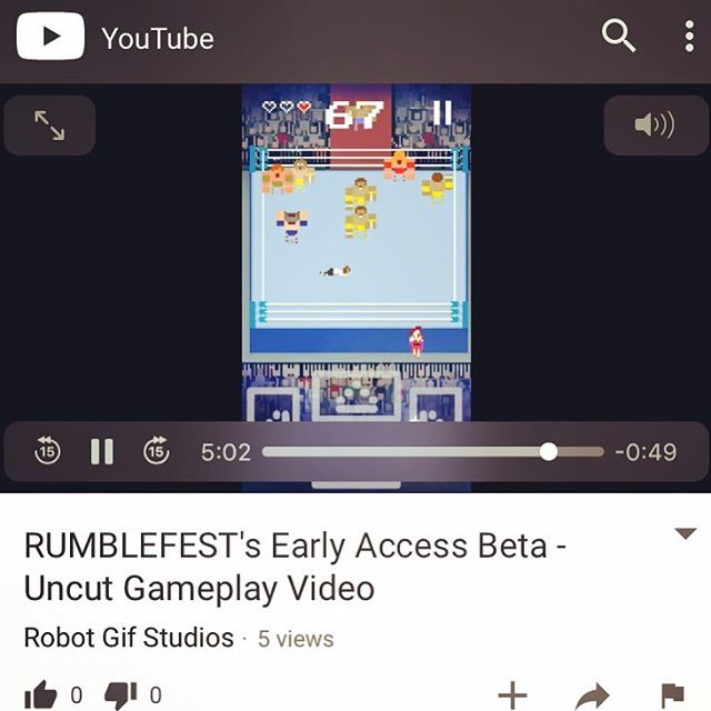 A new gameplay video of the #RUMBLEFEST #earlyaccess beta in action is up on our YouTube channel. Follow the link in our bio and be sure to subscribe. #videogames #indiegames #indiegamedev #prowrestling #wrestlingvideogames #retro #retroarcade #pixel #pixelart