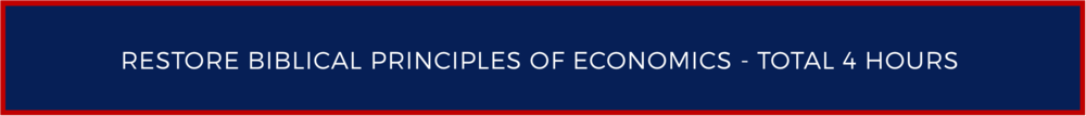 Restore Biblical Principles of Economics