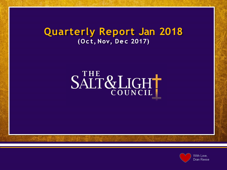 quarterly reports 2nd qtr 2016 the salt light council