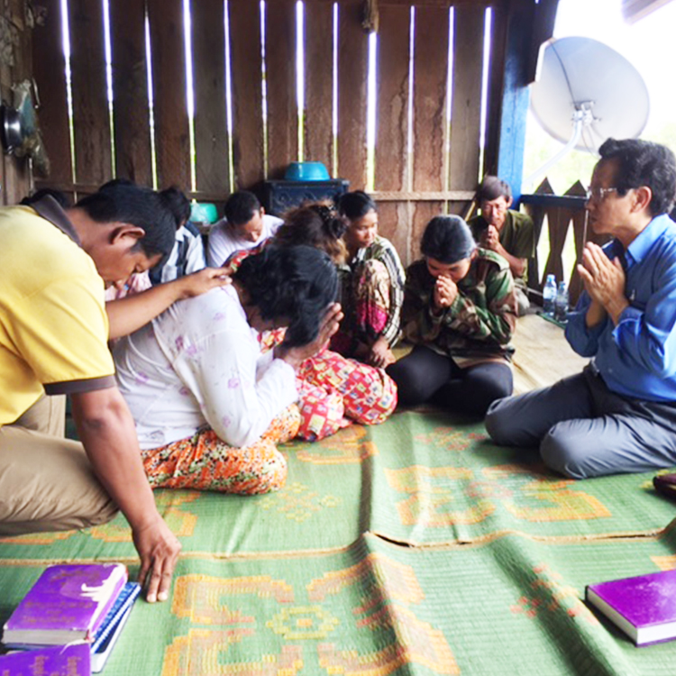 Cambodians meeting Jesus