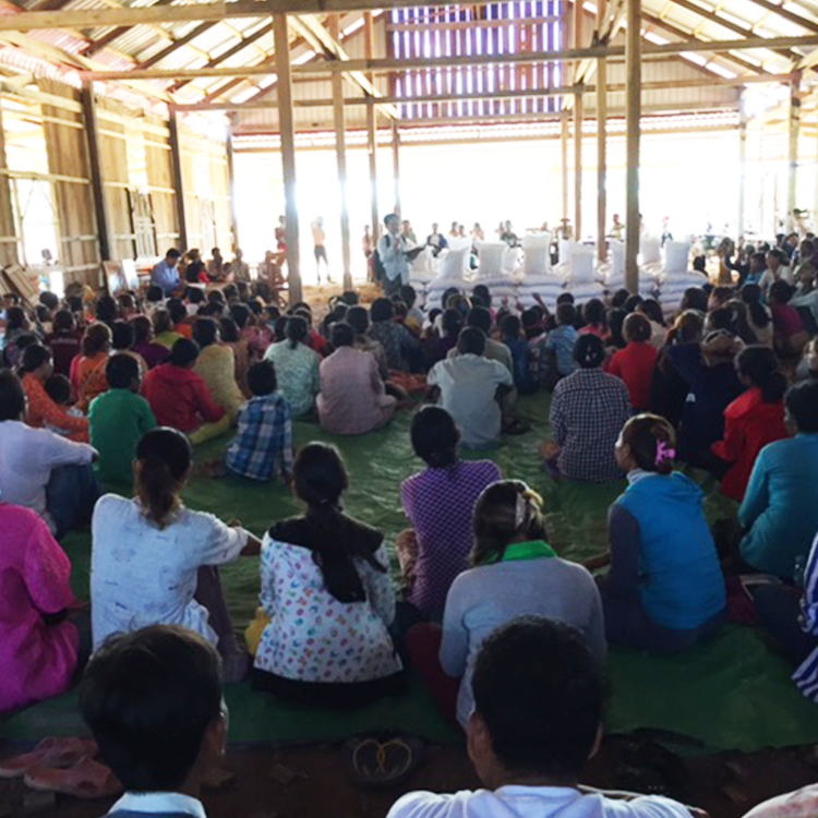 New Cambodian believers meeting for worship