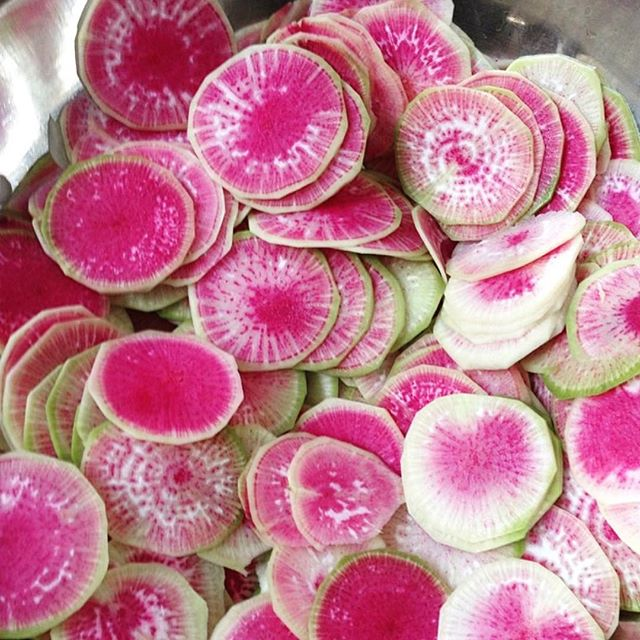Watermelon radish, ready for our seasonal Salads