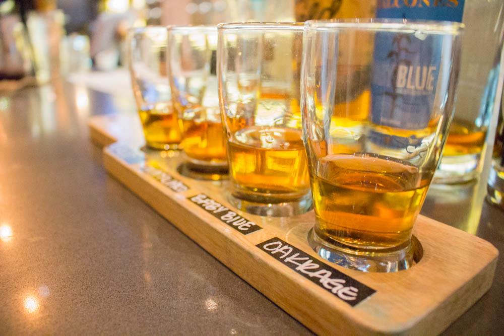 Eureka! Whiskey Flight Close-up