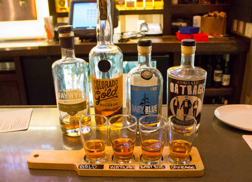American Craft Whiskey Flight- Eureka! - San Luis Obispo, CA