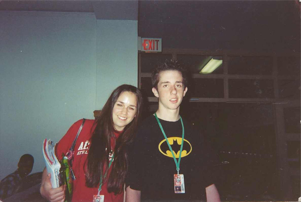 KENOSHA, WI - MICKINLEY MIDDLE SCHOOL / 2002 - OUR FIRST KNOWN PHOTO TOGETHER