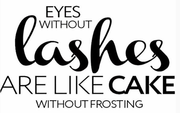 I like cake and I like frosting so... P/C: The Lash Loft's Instagram