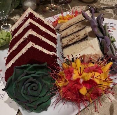 Bride & Groom's cakes