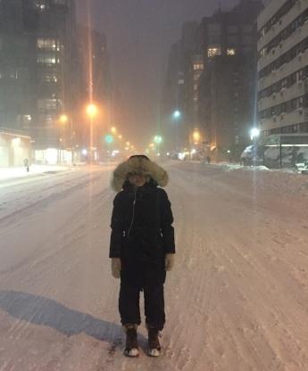 Do as I say, not as I do. It was the blizzard of 2016. It was a Saturday. I wasn't dressing to impress :)