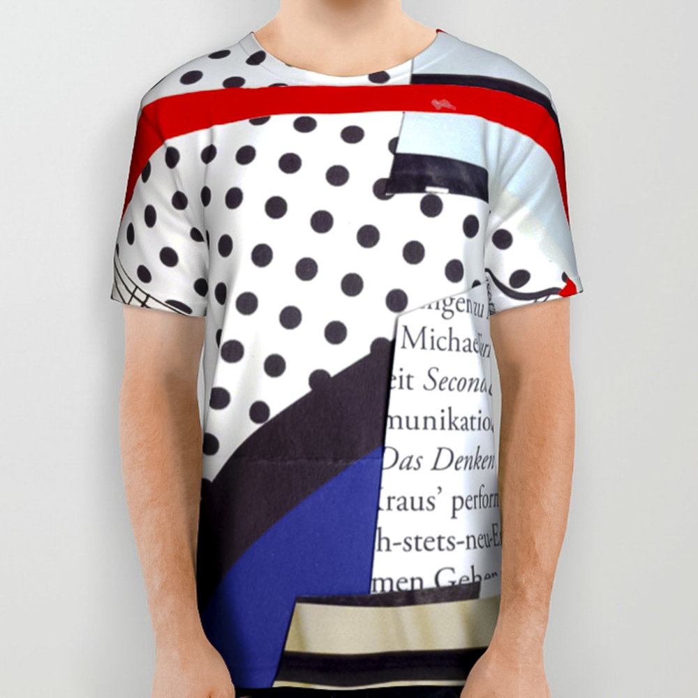 All Over Print Shirt Interchangeable Faces Heydt