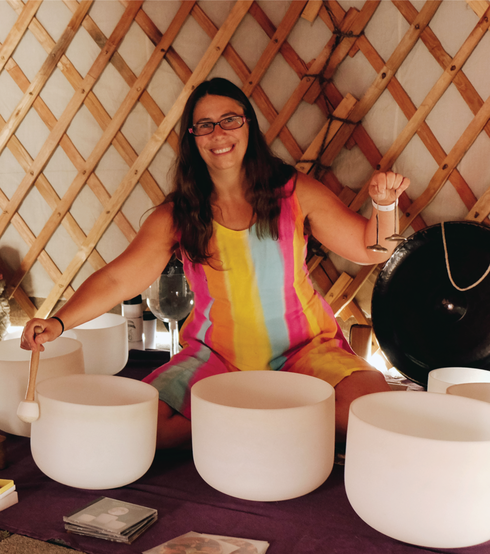 Rebecca White Raven - Rebecca White Raven is an Ottawa based musician, kirtan artist, and sound healer. She delights in bringing a community together, empowering others, and holding an intentional space for groups to experience consciousness raising through sound, song and dance.