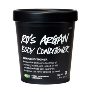 A LUSH BEST SELLER, THIS BODY CONDITIONER IS MADE WITH TURKISH ROSE AND ALMOND, AND ARGAN OILS. A YEAR ROUND FAVE, SLATHER THIS ON AT THE END OF A SHOWER AND EXPERIENCE PERFECTLY SOFT SKIN.