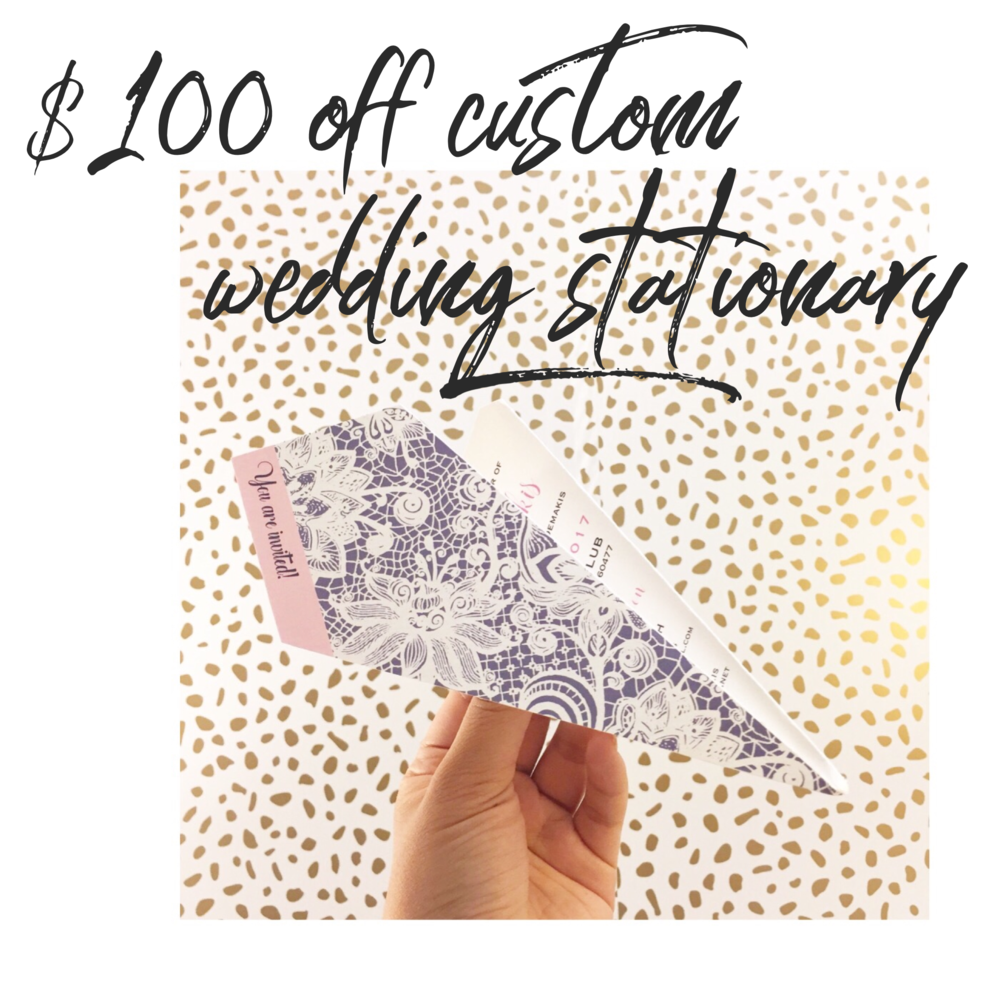 A custom designed bridal shower invitation in the form of a paper airplane!