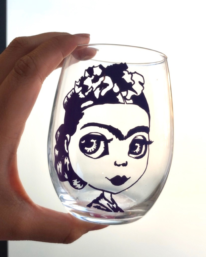 Roast N Toast Frida Wine Glass