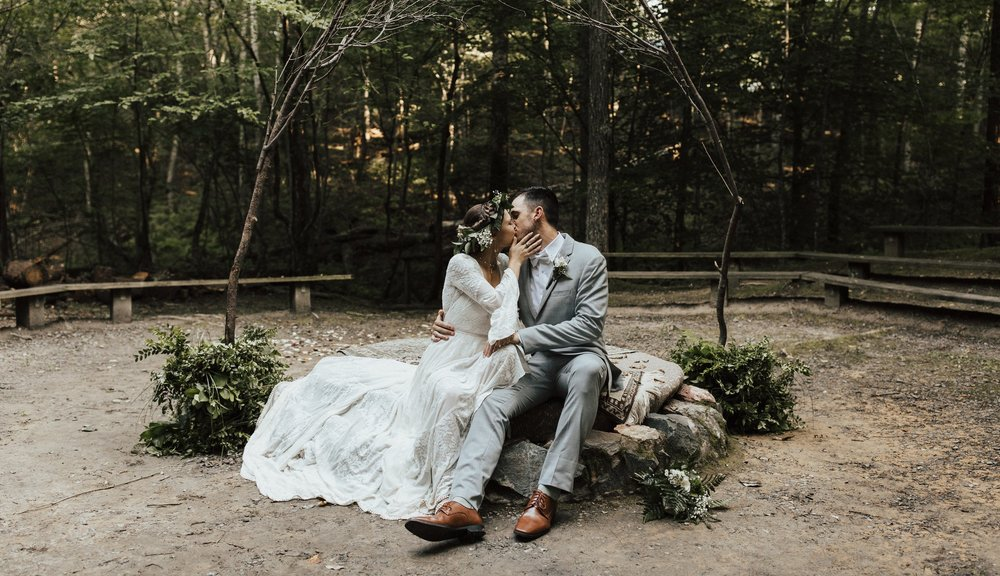 prince william forest campground wedding -