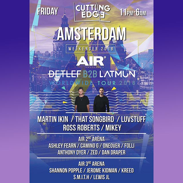 THIS WEEKEND IS GOING TO BE MASSIVE! 🕺🏼🕺🏼🕺🏼 It's not to late to get on it.... Head over to  @cuttingedge_ldn for details. . . . . . . #cantwait #buzzing #weekend #europe #amsterdam #house #techhouse #blessed #dj #djduo #excited #party #rave