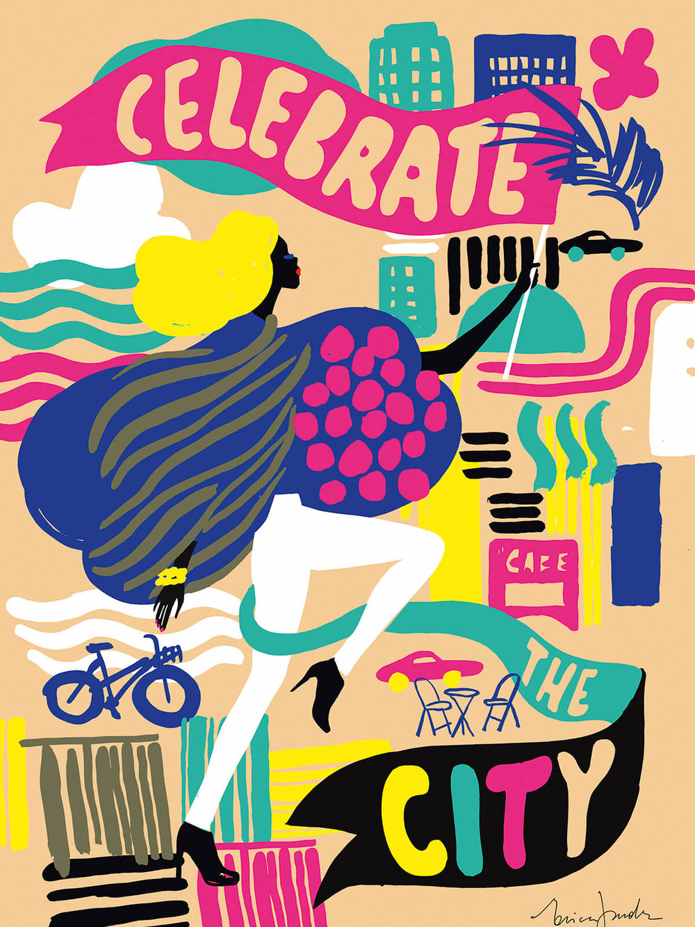 Celebrate the City, Erica Jacobson   50x70 , 750 SEK