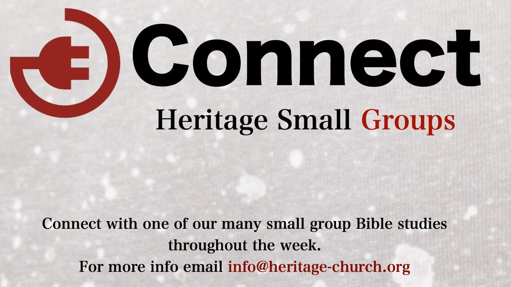 Connect Small Groups - We believe it is important to stay in close fellowship throughout the week. That is why we offer a variety of Small Home Groups. Click HERE to contact us for more information on days and times!