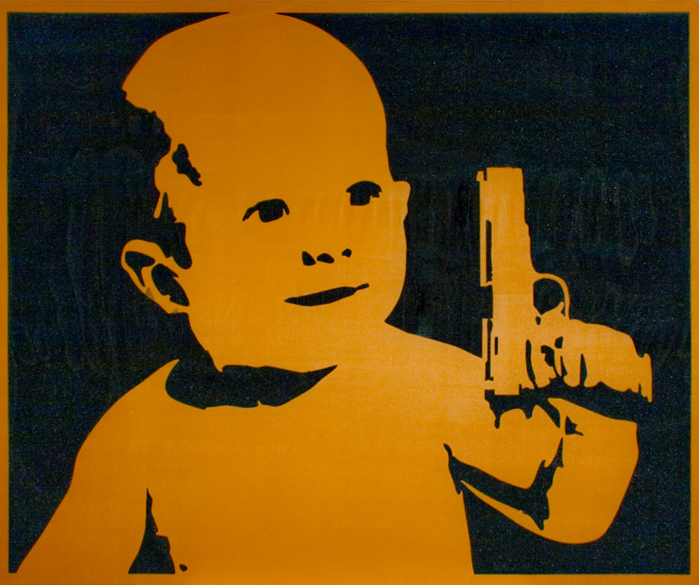 Untitled (Baby with Gun)