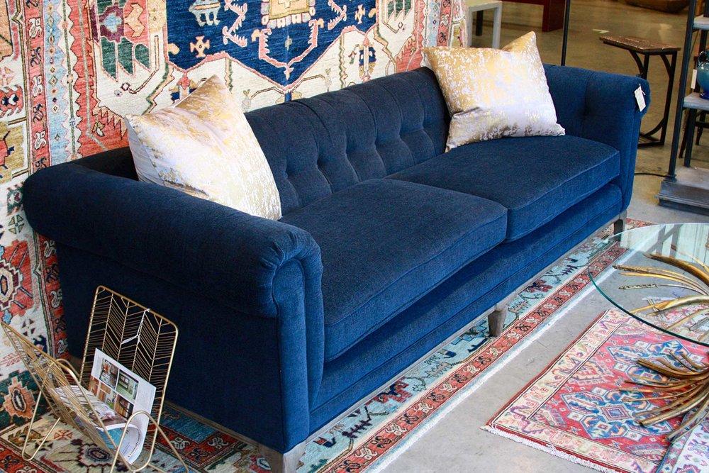 Royale Blue Chesterfield Sofa