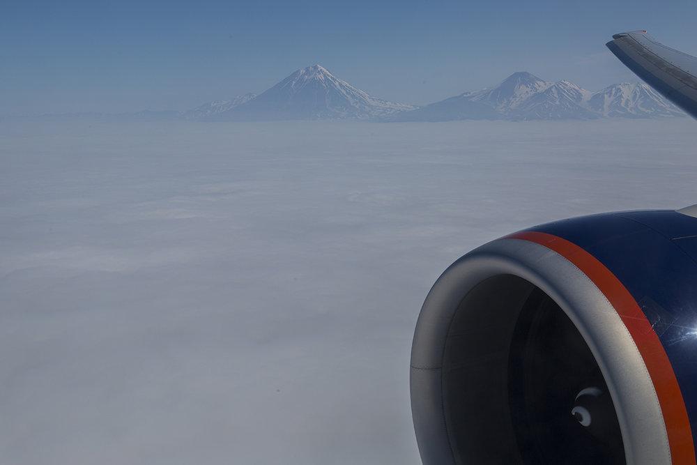 Anflug auf Kamtschatka