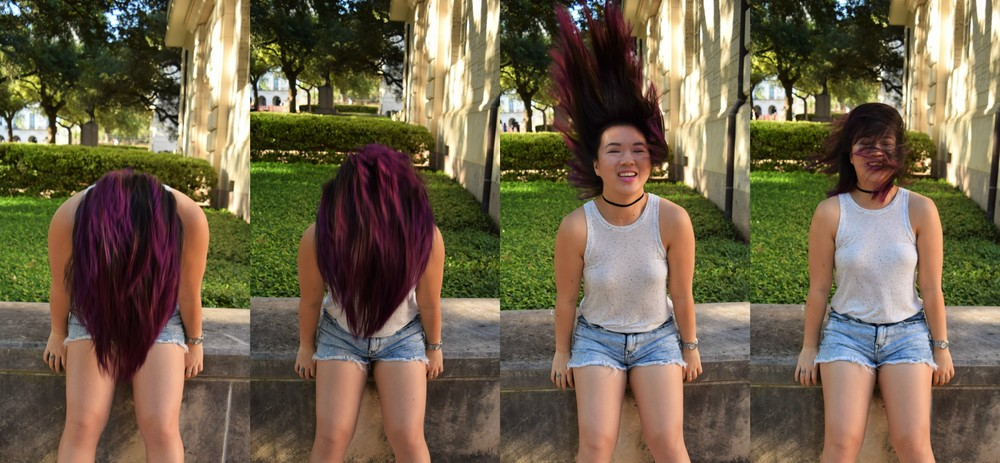 Failed hair flip attempt