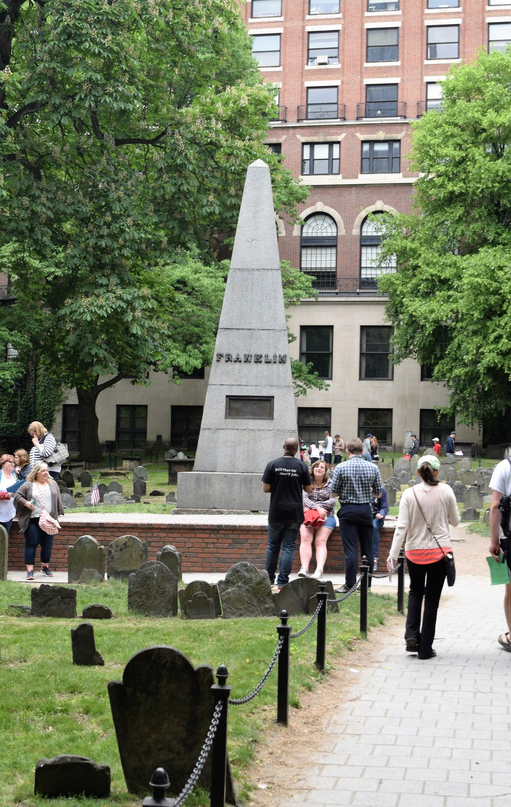 Where Ben Franklin's parrots are buried, yes parrots