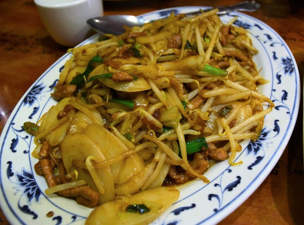 Fried rice cake noodle (nian gao)