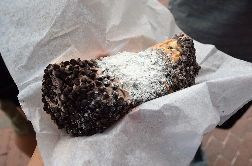 Chocolate mousse cannoli