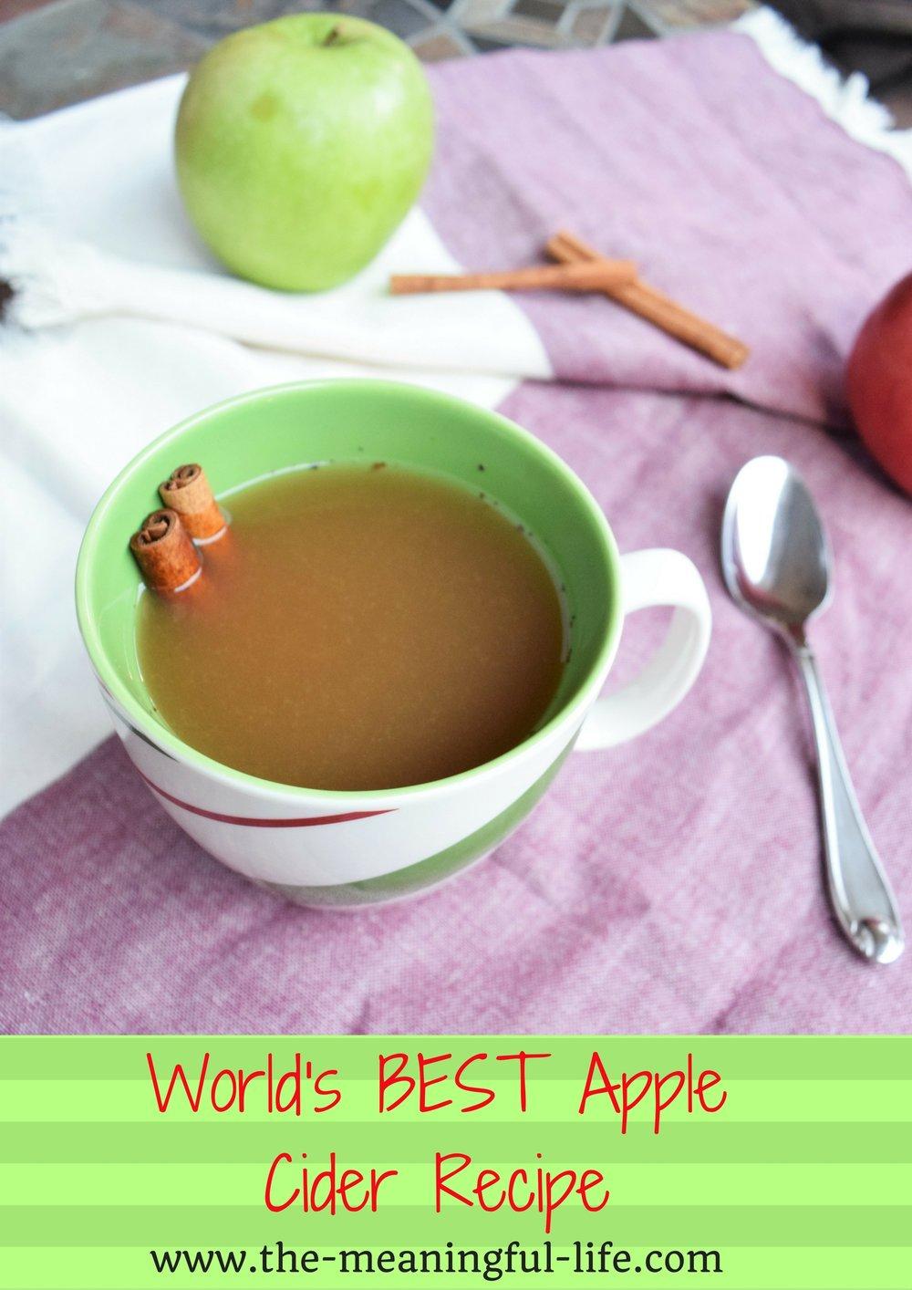 World's BEST Apple Cider Recipe