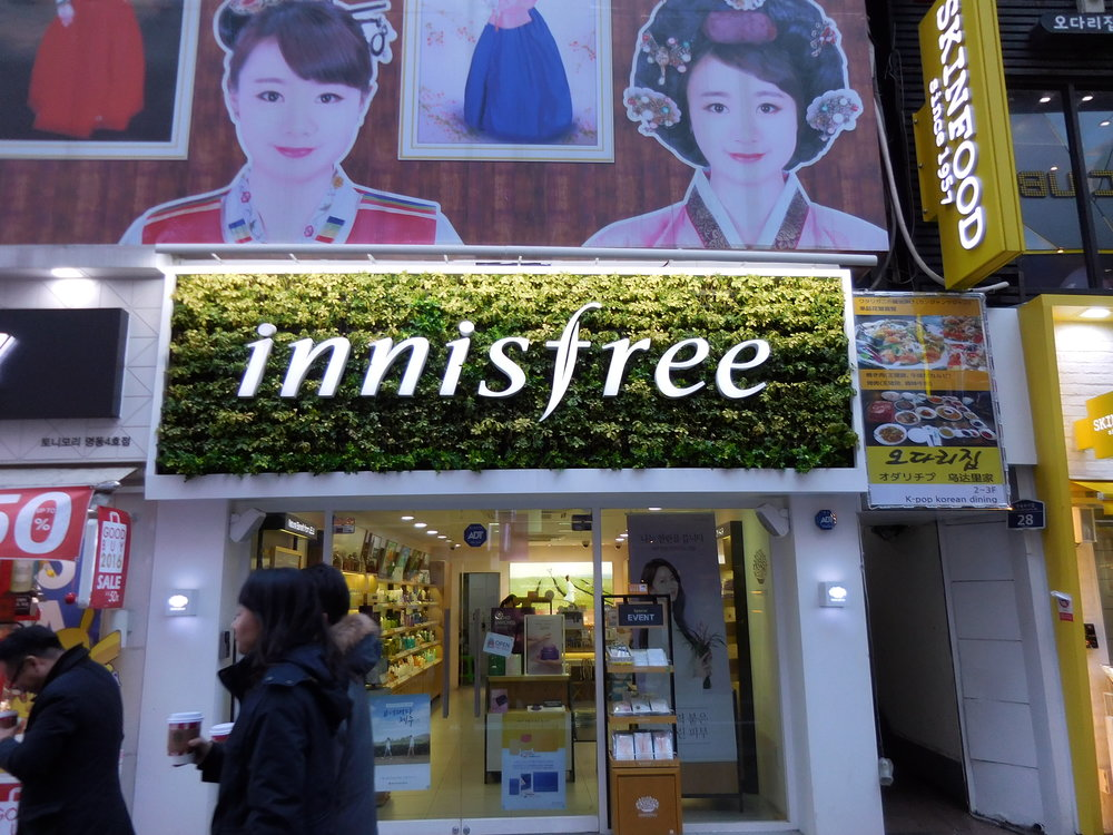 One of the bazillion beauty stores in Myeongdong