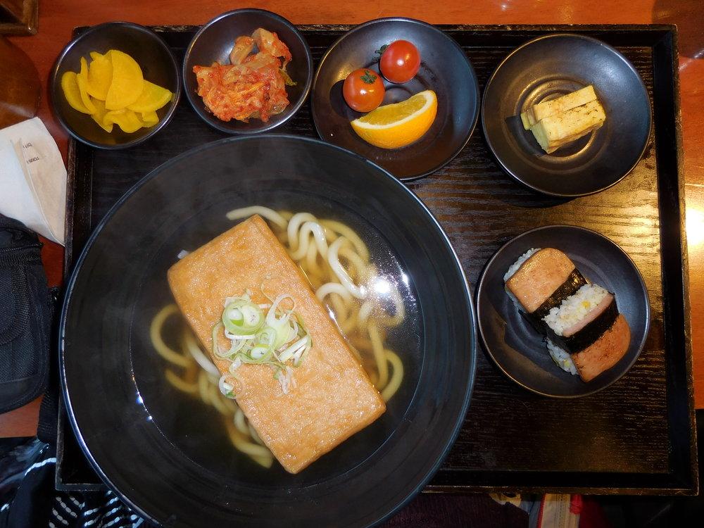 Fresh udon for breakfast