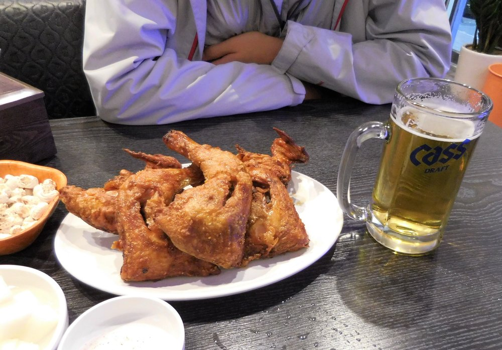 Chicken and beer! The best!