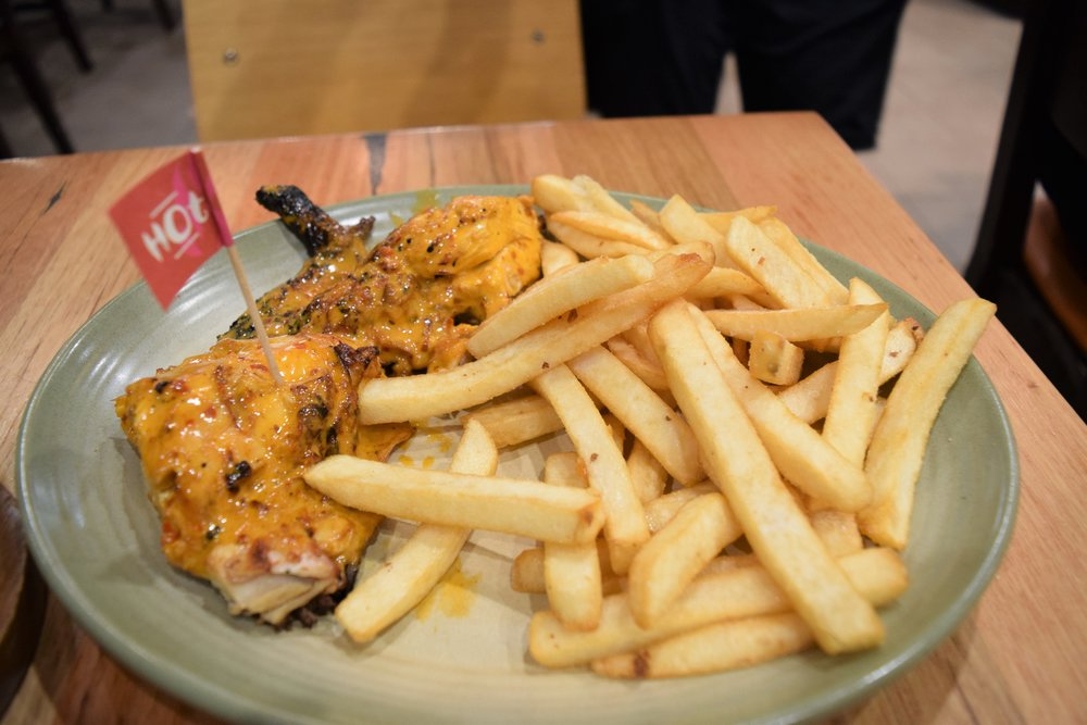 Nando's Hot Chicken with Chips